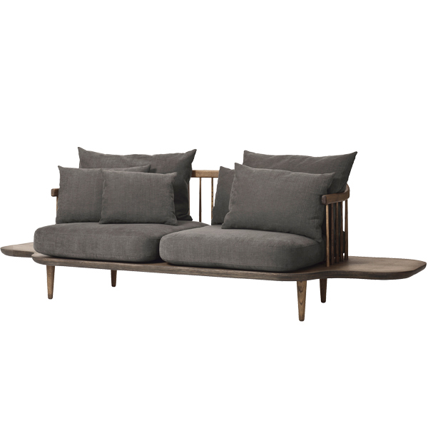 &Tradition Fly SC3 sofa with sidetables, smoked oak - Hot Madison 093