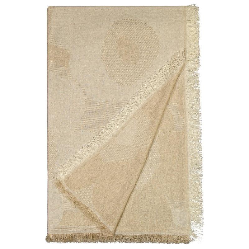 Marimekko Unikko blanket, off white - beige