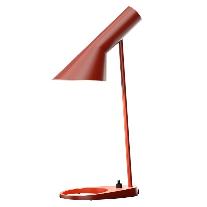 Louis Poulsen AJ Mini pöytävalaisin, ruosteenpunainen