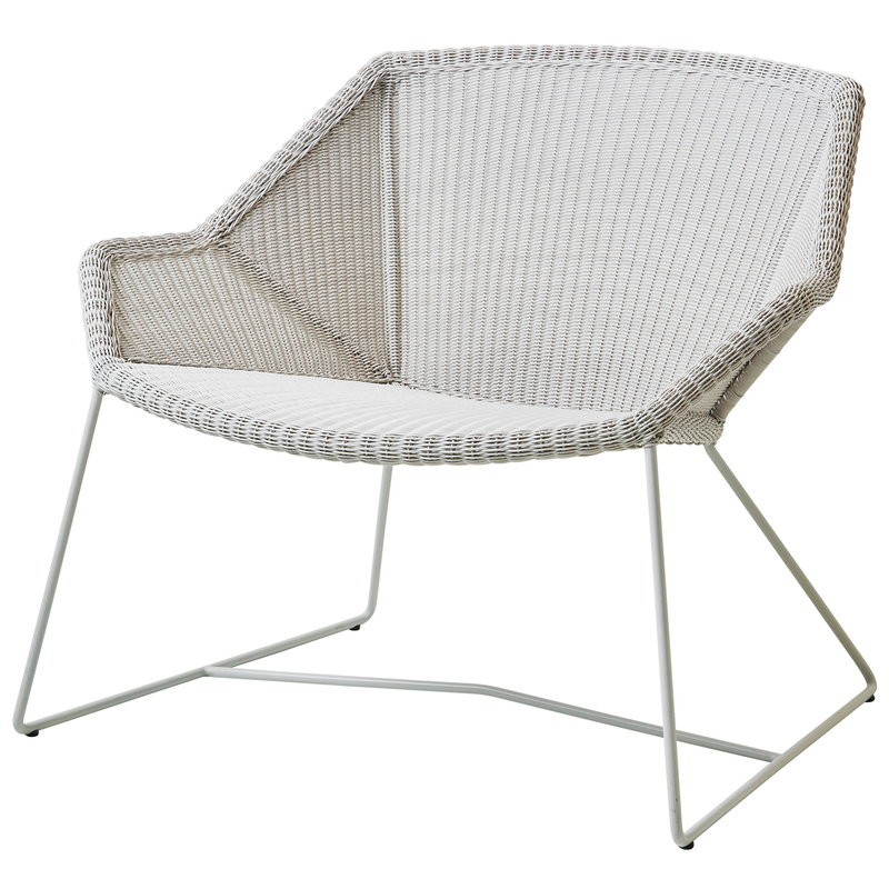 Cane-line Breeze lounge chair, white grey