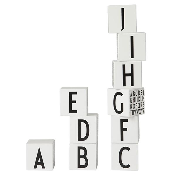 Design Letters AJ Wooden cubes A-Z