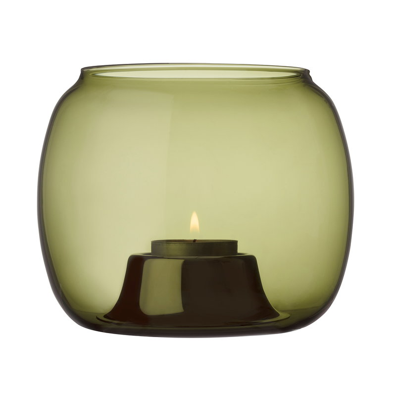 Iittala Kaasa tealight holder, moss green