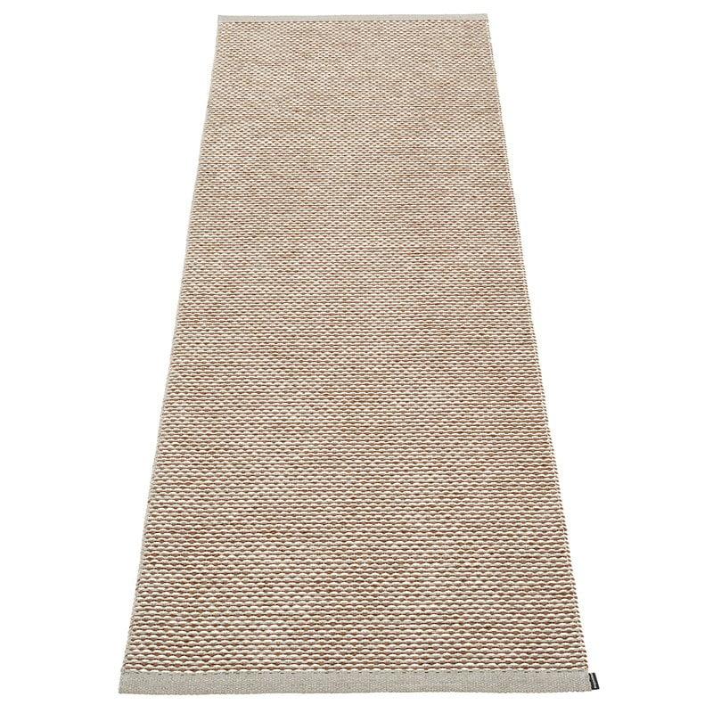 Pappelina Effi rug 70 x 200 cm, warm grey - brown - vanilla