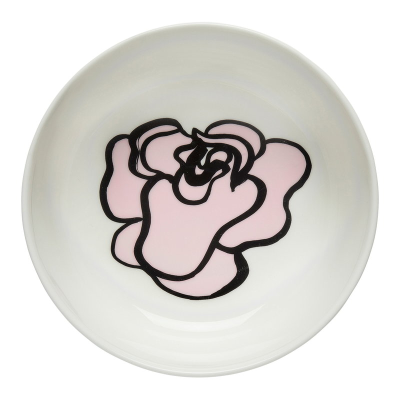 Marimekko Oiva - Eläköön Elämä bowl 4 dl, white - pink