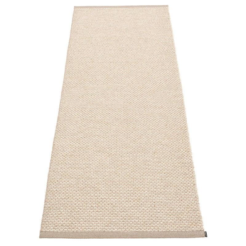 Pappelina Effi matto 70 x 200 cm, mud - beige - vanilla