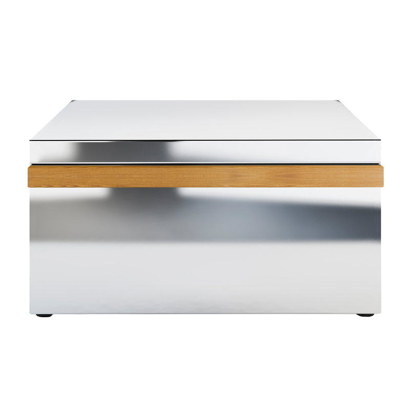 Röshults Module drawer X, brushed stainless steel