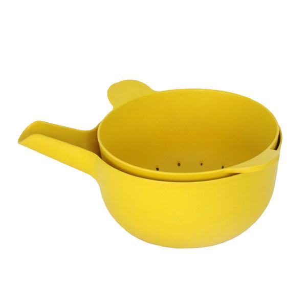 Ekobo BIOBU Pronto kulho ja siivilä, S, keltainen