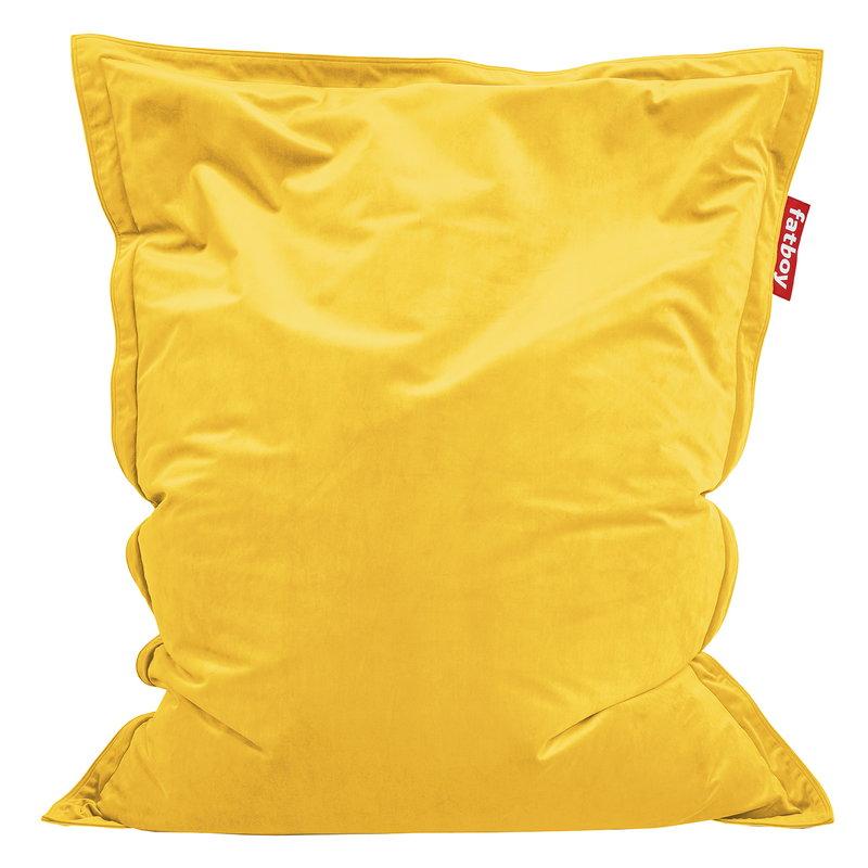 Fatboy Poltrona sacco Original Slim Velvet, maize yellow