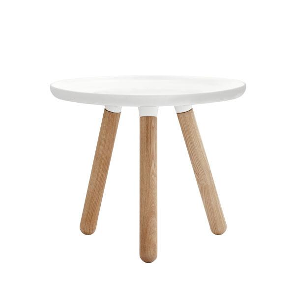 Normann Copenhagen Tablo table small, glossy white