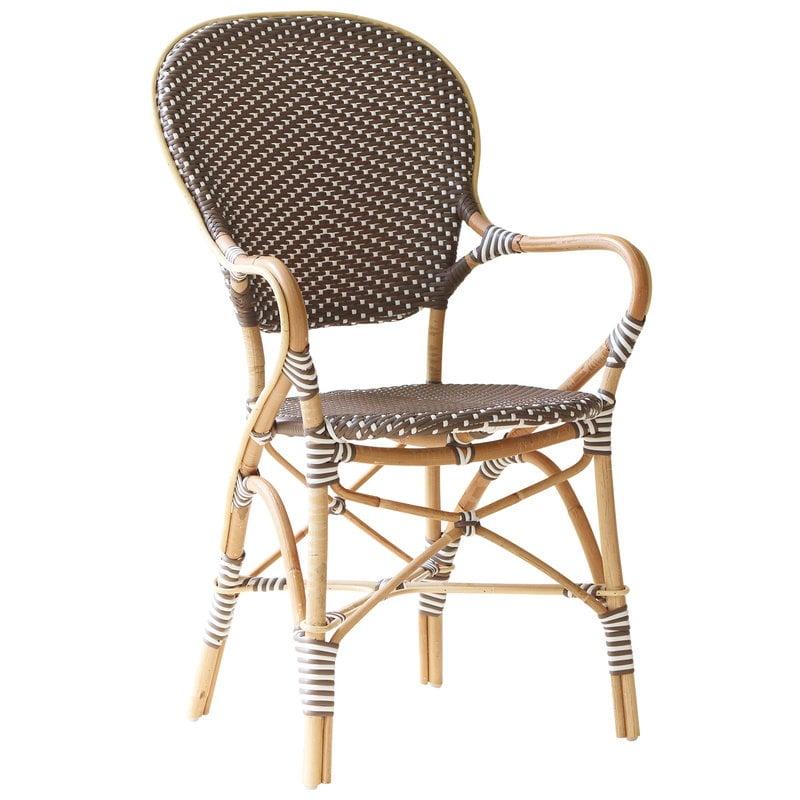 Sika-Design Sedia Isabell con braccioli, cappuccino