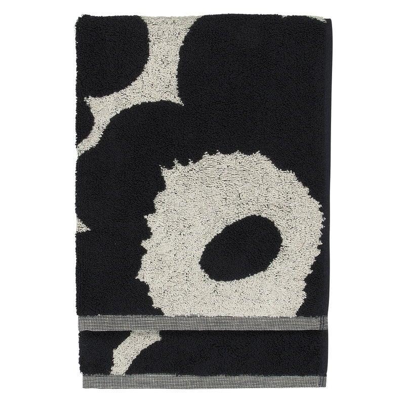 Marimekko Unikko hand towel, cotton - dark blue