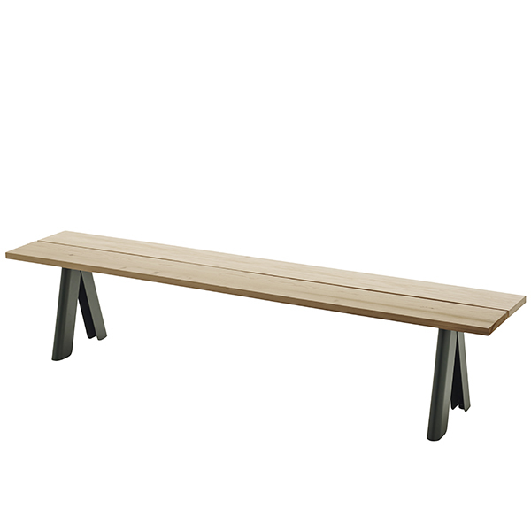 Skagerak Overlap bench, green base