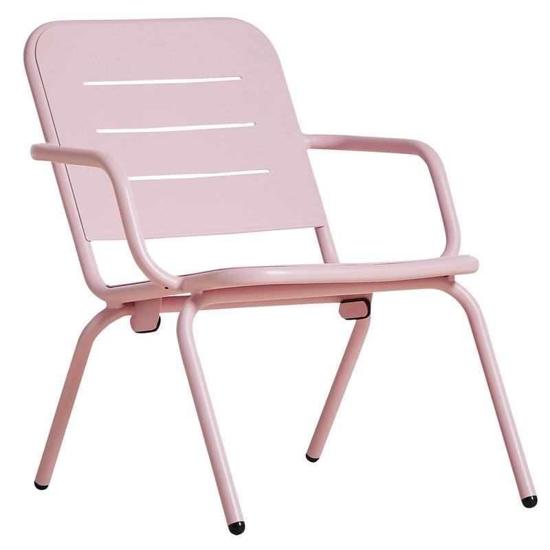 Woud Ray nojatuoli, vaaleanpunainen