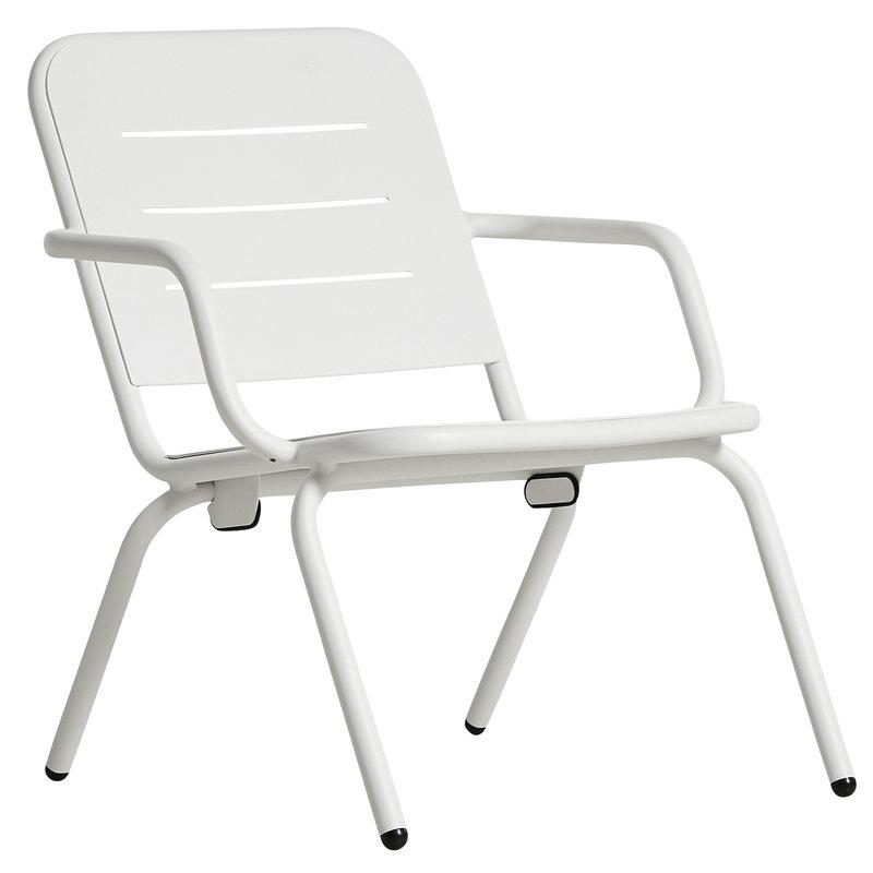 Woud Ray nojatuoli, valkoinen