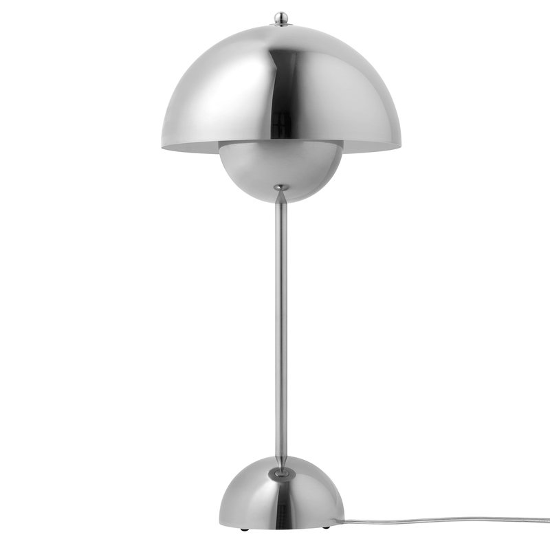 U0026Tradition FlowerPot VP3 Table Lamp, Polished Stainless Steel