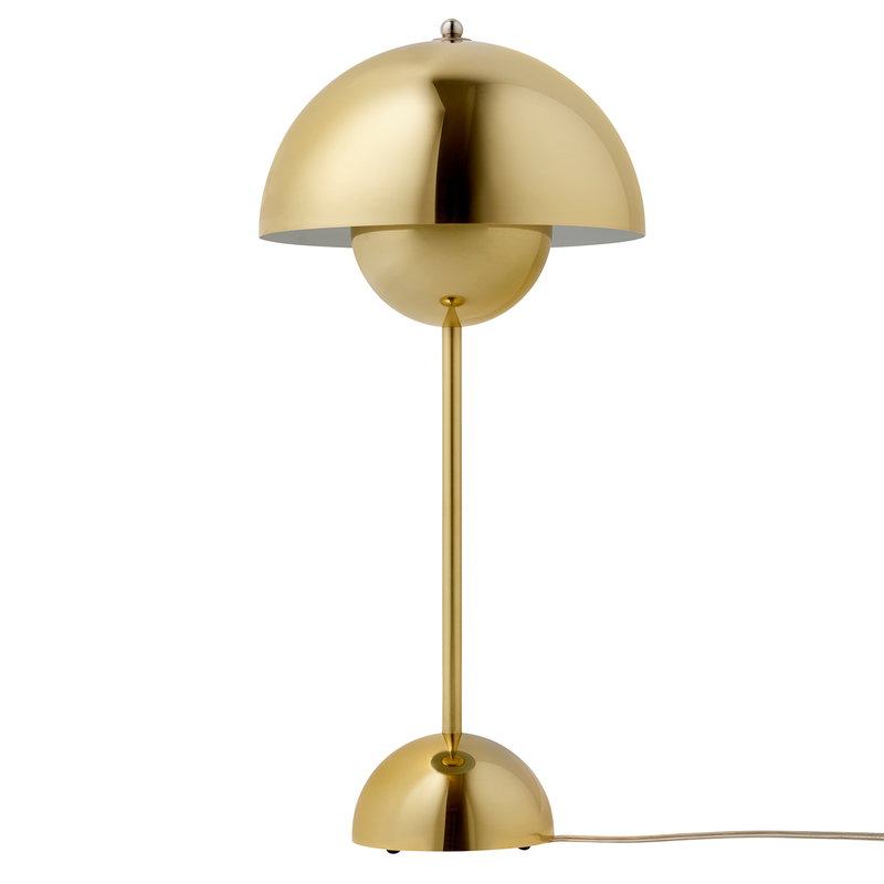&Tradition Flowerpot VP3 table lamp, polished brass