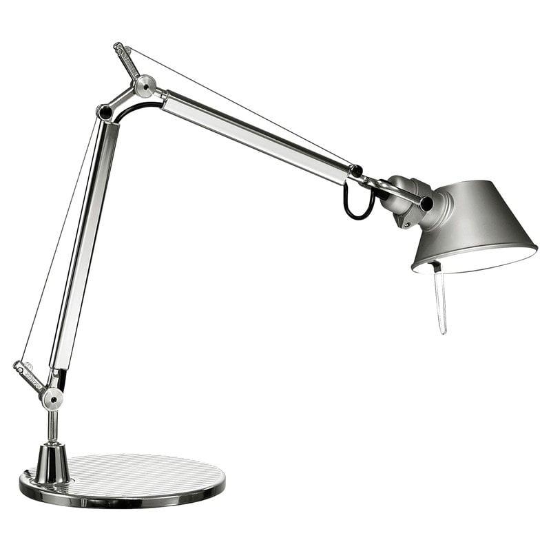 Artemide Tolomeo Micro LED pöytävalaisin, alumiini