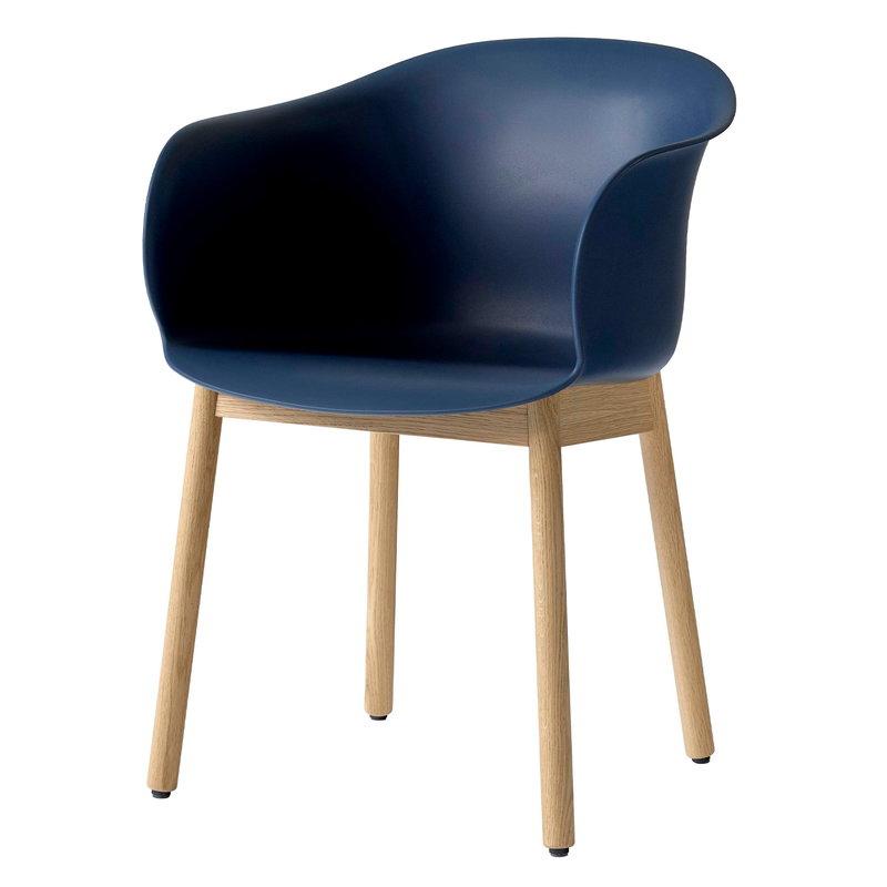 &Tradition Elefy JH30 chair, blue midnight - oak