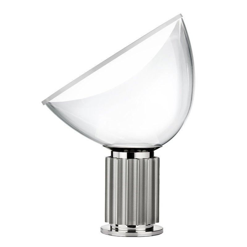 Flos Lampada da tavolo Taccia, piccola, argento