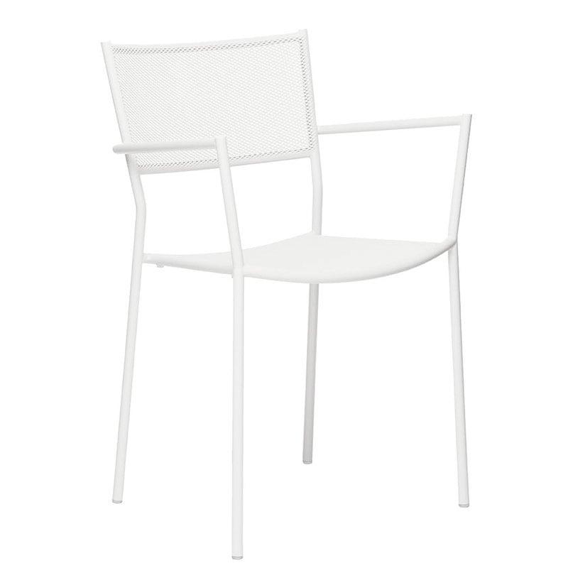 Massproductions Jig Mesh käsinojallinen tuoli, valkoinen