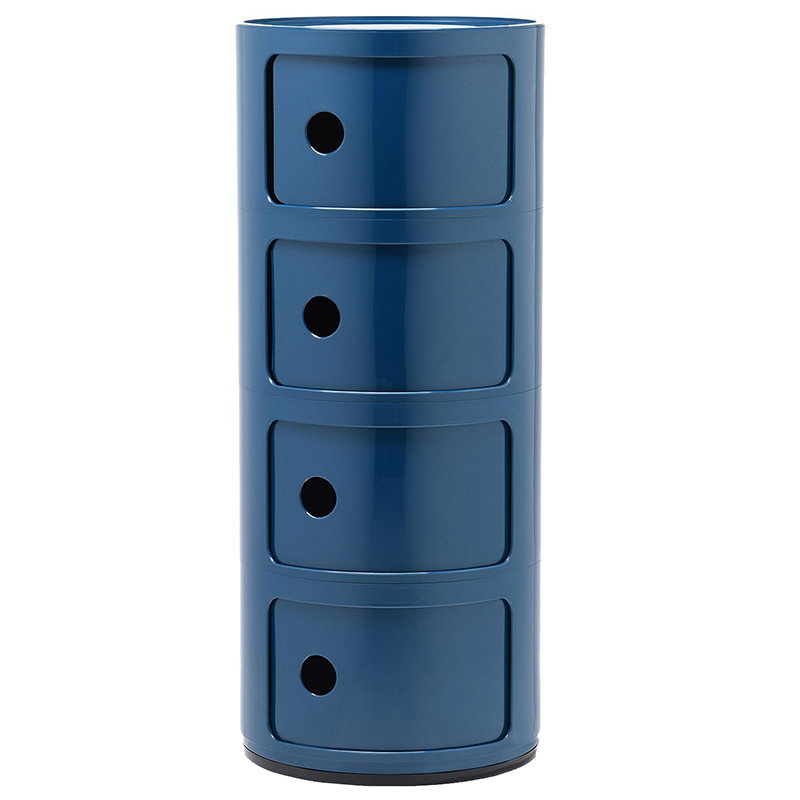 Kartell Componibili storage unit, 4 modules, blue