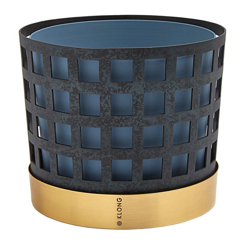 Klong Trio flower pot, blue square