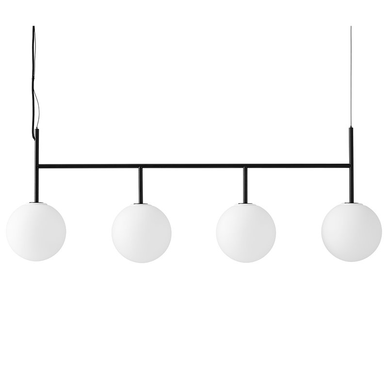 Menu TR Bulb pendant with frame, black - matte opal