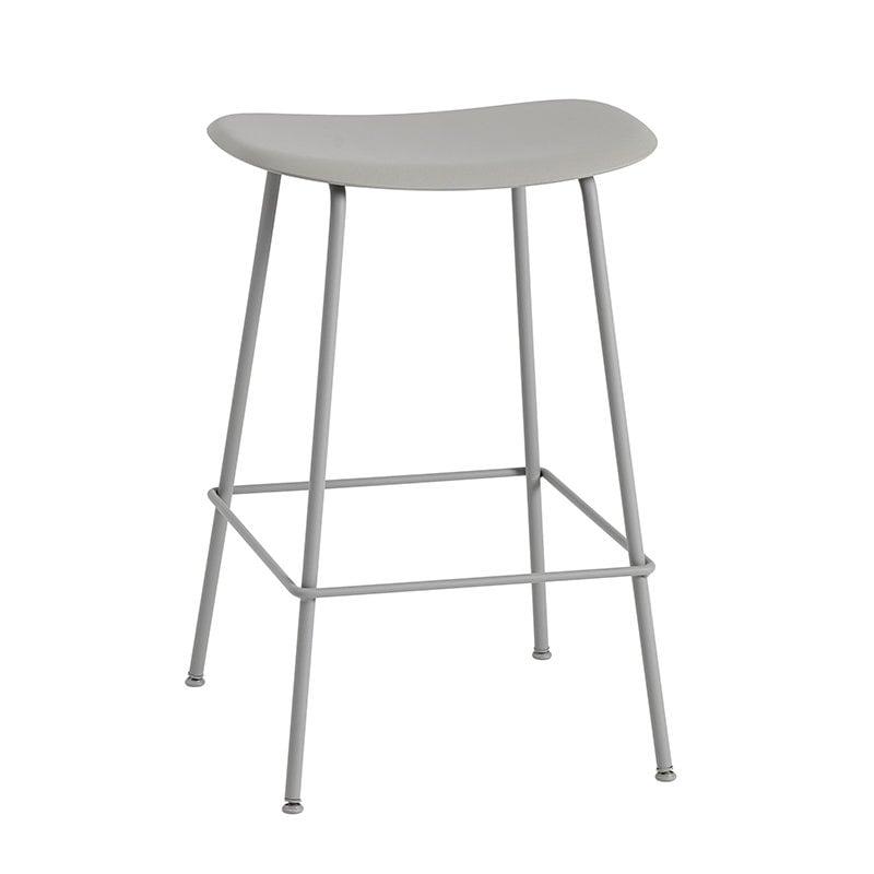 Muuto Fiber bar stool, tube base, grey