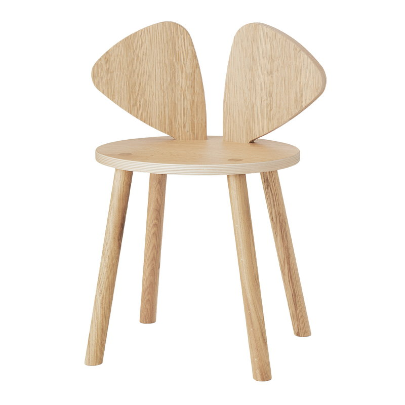 Nofred Mouse children's chair, lacquered oak