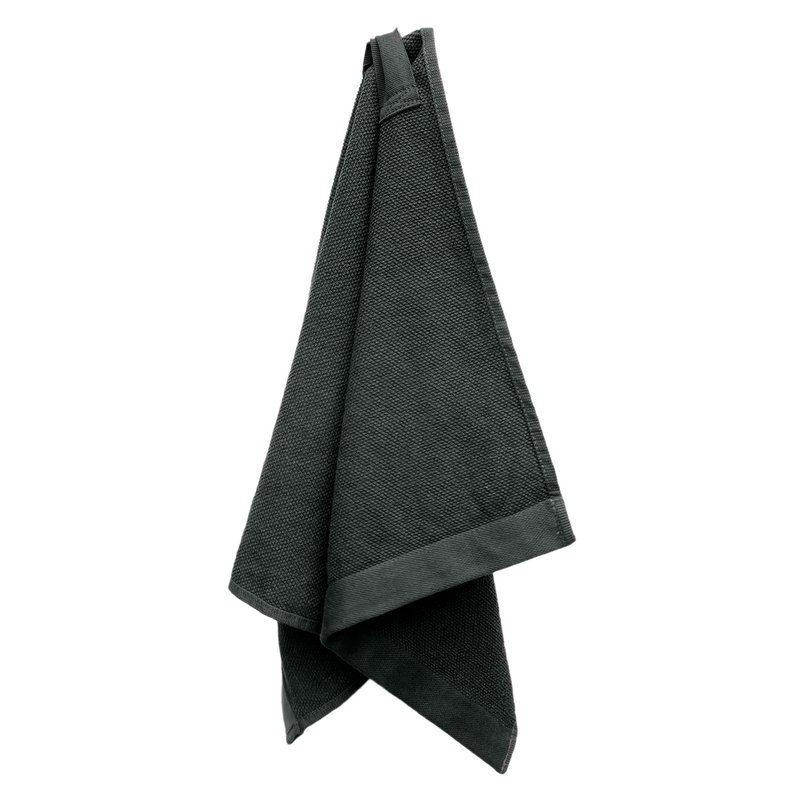 The Organic Company Everyday hand towel, dark grey