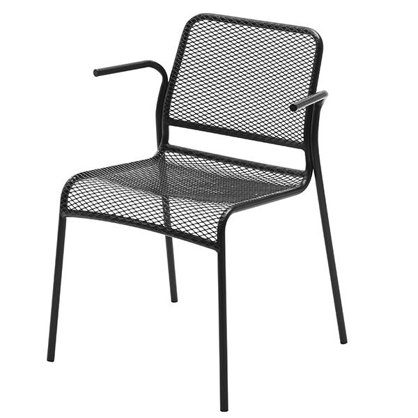 Skagerak Mira tuoli käsinojilla, antrasiitinmusta