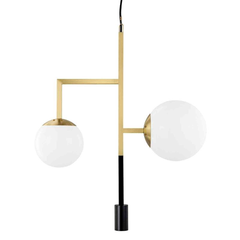 Örsjö Decostick wall lamp, brass