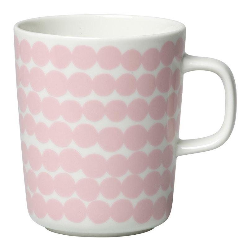 Marimekko Oiva - Siirtolapuutarha Räsymatto mug 2,5 dl,  white-pink