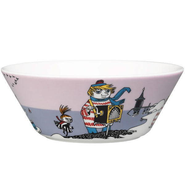 Arabia Moomin bowl, Tooticky, purple