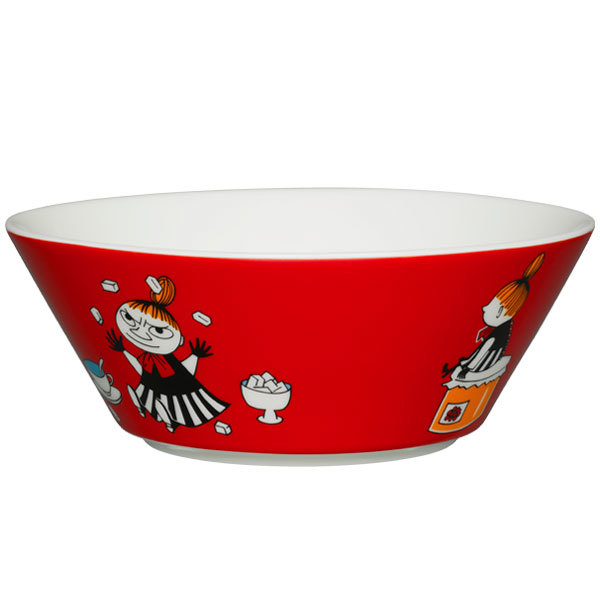 Arabia Moomin bowl, Little My, red