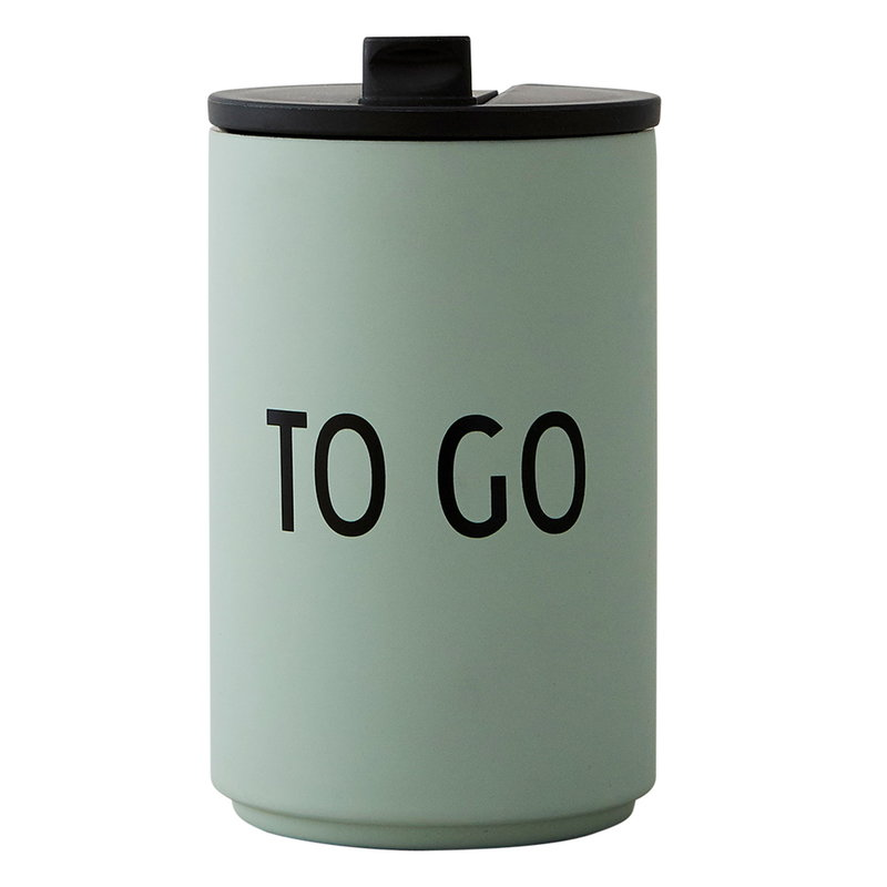 Design Letters TO GO thermo cup, green