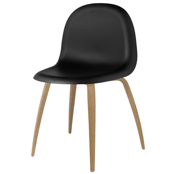 Gubi Gubi 5 chair, black-oak