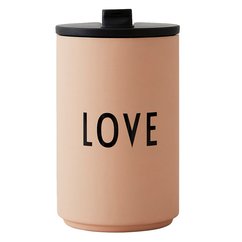 Design Letters LOVE thermo cup, soft camel