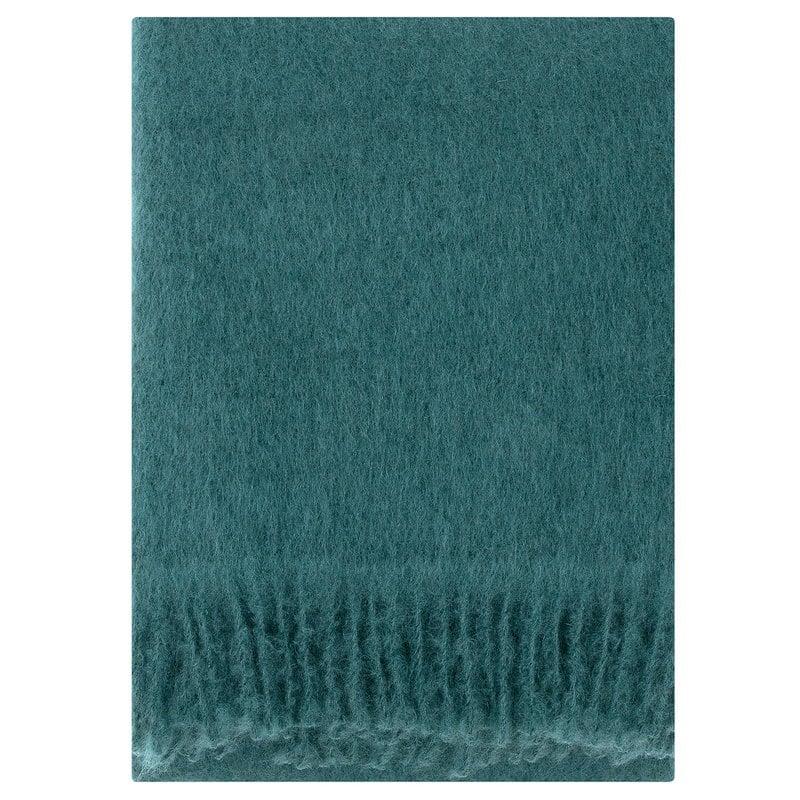 Lapuan Kankurit Saaga Uni mohair blanket, spruce green
