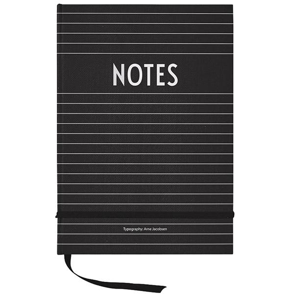 Design Letters Quaderno, nero