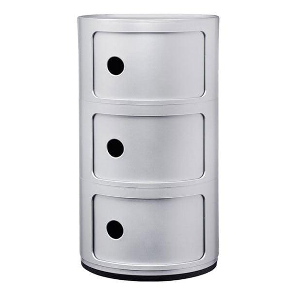 Kartell Mobile contenitore Componibili, 3 moduli, argento