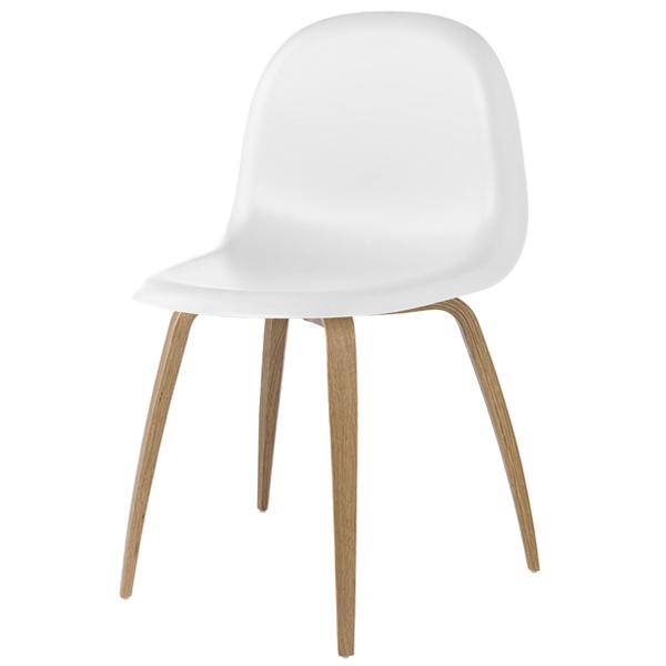 Gubi Gubi 5 tuoli, valkoinen-tammi