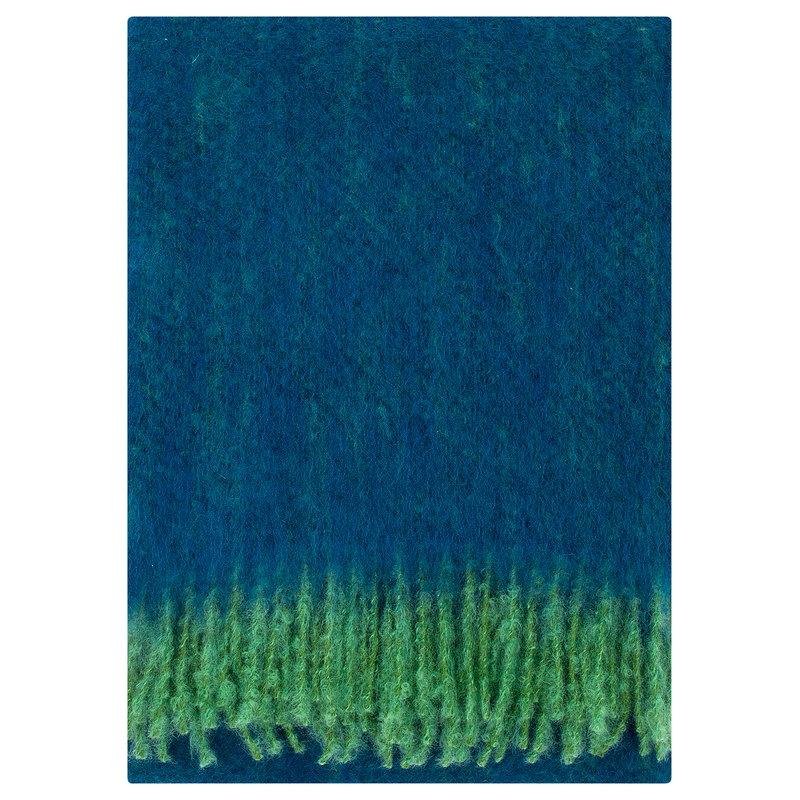 Lapuan Kankurit Revontuli mohair blanket, green - blueberry