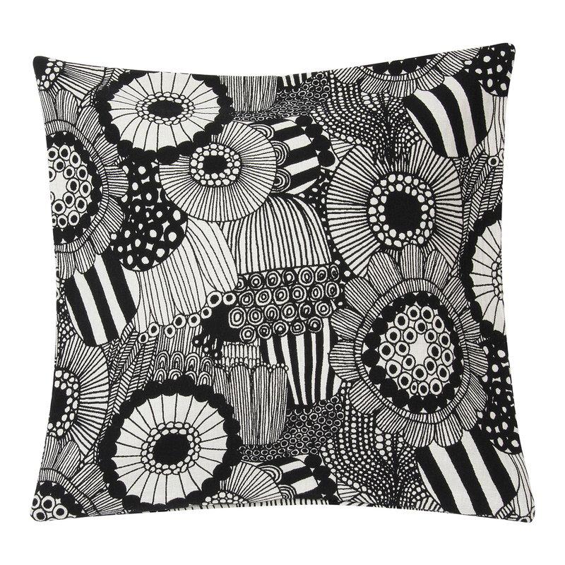 Marimekko Pieni Siirtolapuutarha cushion cover, off white-black