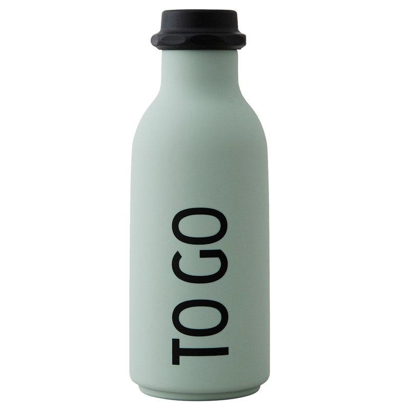 Design Letters Bottiglia TO GO, verde chiaro