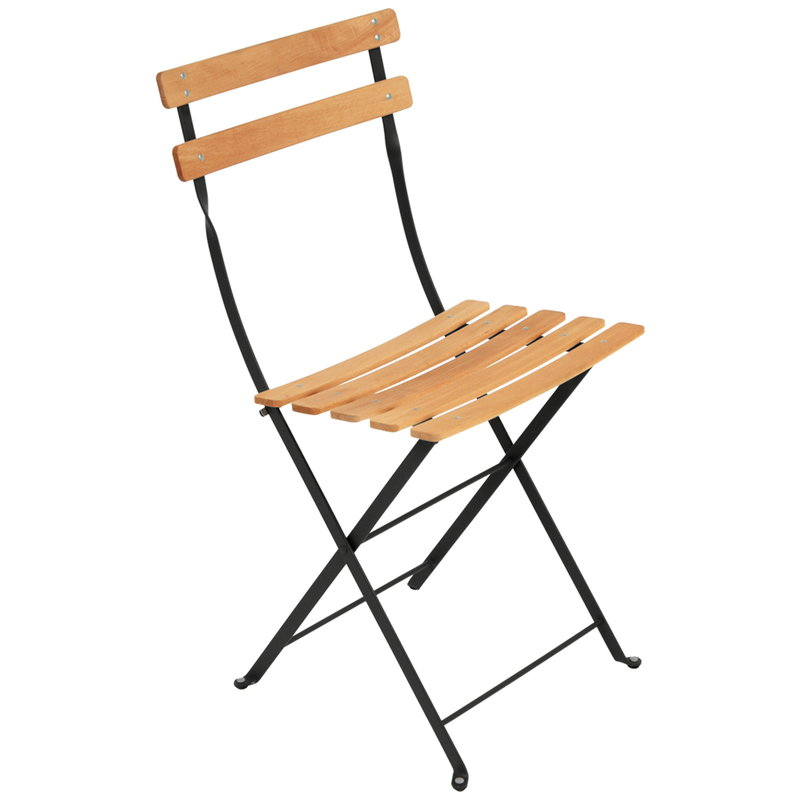 Fermob Bistro Naturel chair, liquorice
