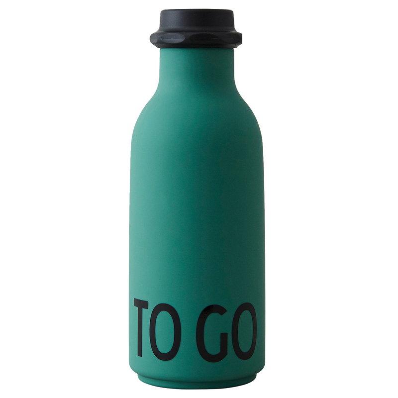 Design Letters Bottiglia TO GO, verde scuro