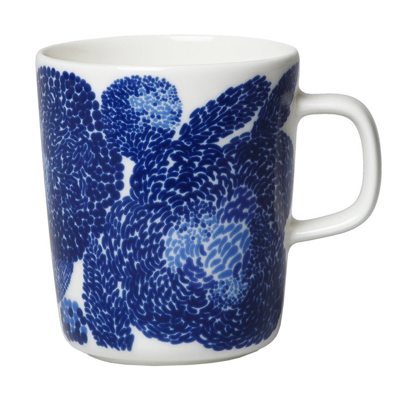 Marimekko Tazza Oiva - Mynsteri 2,5 dl, bianco - blu