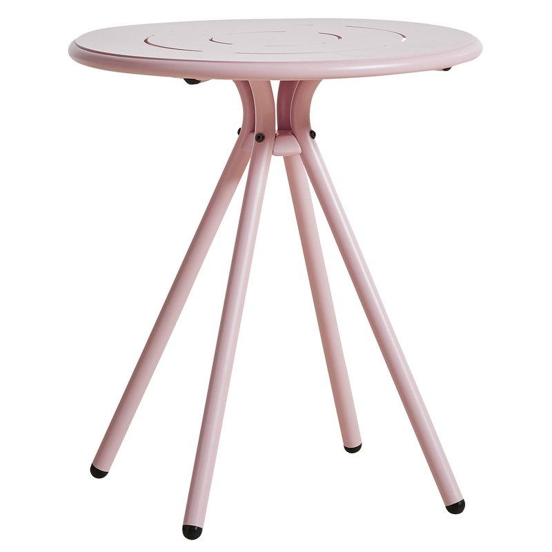 Woud Ray kahvilapöytä 65 cm, pyöreä, vaaleanpunainen
