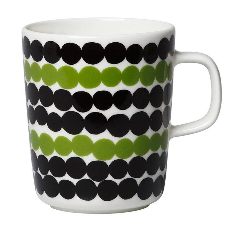 Marimekko Oiva - Siirtolapuutarha Räsymatto mug 2,5 dl, green-black